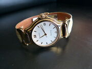 Zenith Academy Nos Ladies Fancy Gold Plated Quartz New Old Stock 27.6000.226