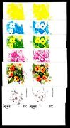 Niue 1981 10c Pacific Flowers Thunbergia Alata And Black-eyed Susan Proofs 12v