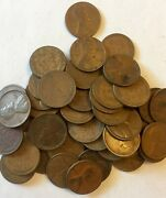 1924-p Lincoln Wheat Cent Penny 50 Coin Roll