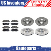 For 2007-14 Mercedes-benz Cl600 Front + Rear Brake Rotors And Metallic Brake Pads