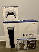 Playstation 5 Spider-man Ultimate Edition And Call Of Duty 2 Controller Bundle