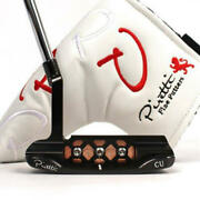 Piretti Golf Club Putter Limited Model Midnide Black Plated Finish With Cover