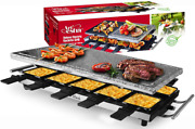 Artestia Raclette Table Grill1500w Smokeless Indoor Grill10 Paddles Korean Bbq