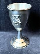 Kiddush Cup Goblet Silver Plate Judaica Vintage Wine Blessing