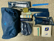 Vintage Klm Airlines First Class Travel Amenity Toiletry Kit Bag Caron Homme