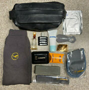 Vintage Lufthansa Airlines First Class Travel Amenity Toiletry Kit Bag Etienne