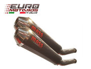 Massmoto Exhaust Slip-on Dual Silencers Tromb Carbon Road Legal For Ducati St 2