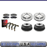 For 1988 Chevrolet K2500 Brake Rotors And Ceramic Pads + Brake Drums And Shoes