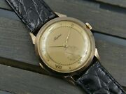 50and039s Vintage Watch Mens Alpina Hand Wind Cal. 586 Solid Rose Gold 19k 0.800 Rare
