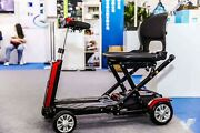 Remote Auto Folding 4 Wheel Luggage Disabled Handicap Mobility Electric Scooter