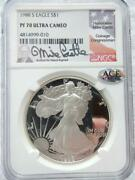 1988 S American Silver Eagle Ngc Pf70, Mike Castle, Ultra Cameo    R731