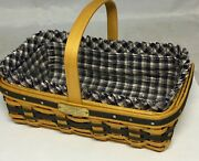 Longaberger Cc Jw Mini Gathering Basket, Protector And Liner Great Condition