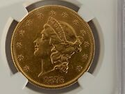 1876-s 20 Dollar Liberty Head Double Eagle Gold Ngc Certified Au Details