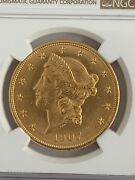 1907-d 20 Dollar Liberty Head Double Eagle Gold Ngc Certified Unc Details