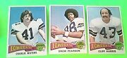 1975 Topps 3ct Rc Mt Drew Pearson Cliff Harris Charlie Waters 65 59 490