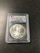 2013-w 1 American Silver Eagle Pcgs Ms70 First Strike Struck At West Point