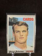 Topps 1969 162 Jerry Michael Johnson Cards Pitcher In Sleeve And Top Loader