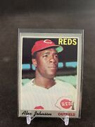 Topps 1969 115 Alex Johnson Reds Outfeild In Sleeve And Top Loader