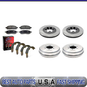 For 09-12 Chevrolet Colorado Brake Rotors And Ceramic Pads + Brake Drums And Shoes