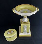 Vintage Mottahedeh Italy Porcelain Neoclassical Centerpiece Compote Or Candy Box