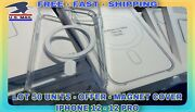 🇺🇸transparent Cover Magnetic- Lot 50 Units🟢iphone 12 -12 Pro -free-fast Shipp