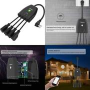 Outdoor Smart Plug Surge Protector Powrui Smart Power Strip With 4-outlet Exte