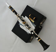 African Blackwood Clarinet Silver 19 Key By Usa Weibster With High-grade Case