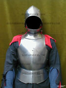 Medieval Knight Half Body Armor Suit With Cuirass Gorget And Spanish Helmet