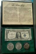 The Silver Story 1921 Morgan And 1922 Peace 1957 Silver Certificate Granules