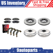 For 09-12 Chevrolet Colorado Brake Rotors And Metallic Pads + Brake Drums And Shoes