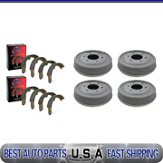 For 1965-1967 Chevrolet C10 Pickup Front And Rear Brake Drums And Brake Shoes