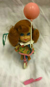 Vintage 1960and039s Mattel Liddle Kiddle Trikey Triddle Doll + Tricycle Balloon