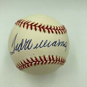 Stunning Ted Williams Single Signed American League Baseball Jsa Graded Mint 9
