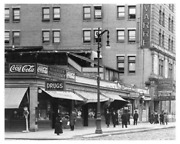 New York Photo Art Print 37th And 7th Avenue Diner With A Coca-cola Sign Over Head