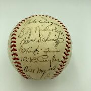 Beautiful 1941 Chicago Cubs Team Signed Nl Baseball With Wimpy Quinn Jsa Coa