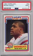 1984 Topps Usfl 58 Reggie White Psa 9 Rc Rookie Showboats Eagles Packers