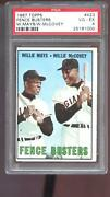 1967 Topps 423 Fence Busters Willie Mays Willie Mccovey Psa 4 Graded Card Mlb