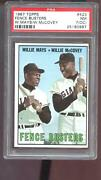1967 Topps 423 Fence Busters Willie Mays Willie Mccovey Psa 7 Oc Graded Card