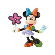 Romero Britto Minnie Mouse With Flowers - 8.25 In -