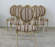 Antique Vintage French Chairs Louis Xvi Style Dining Chairs 6