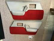 1984 Oem Pontiac Fiero Indianapolis Indy Pace Car Door Panel Set Left And Right