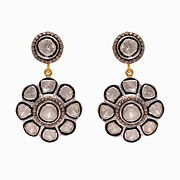 Diamond Pave 925 Sterling Silver Dangle Earrings Wedding Christmas Gift Jewelry