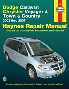 And03903 - And03907 Dodge Caravan Chrysler Voyager Town And Country Mini Haynes 30013
