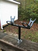 2 Rod Holder Spider Rig T-bar For Crappie Fishing. Free Shipping