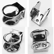 Marine Grade Stainless Single Ring Cup Drink Holder - With Steel Base