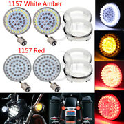 1157 Led Turn Signal A/wandred Light+clear Lens For Harley Dyna Night Train Fxstb