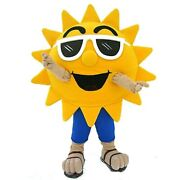 Sun Cartoon Character Mascot Costume Cosplay Party Game Dress Outfit Advertising