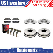 For 2003-2004 Toyota Tundra Brake Rotors And Ceramic Pads + Brake Drums And Shoes