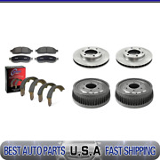 For 1978 Gmc K15 Brake Rotors And Metallic Pads + Brake Drums And Shoes