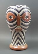 Nd Dolfi Montelupo Italy For Neiman Marcus Huge Face Pottery Vase Sculpture Rare